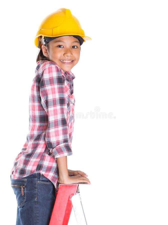 Маленькая девочка на лестнице III стоковая фотография