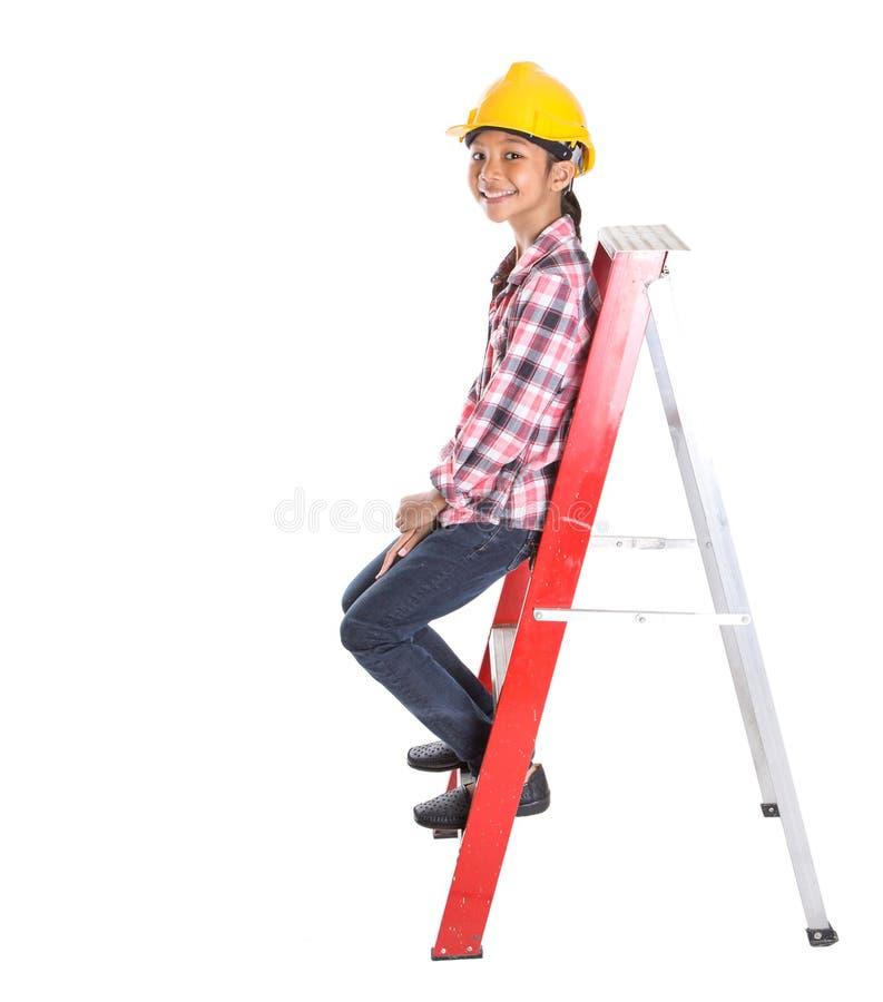 Маленькая девочка на лестнице VIII стоковые фото
