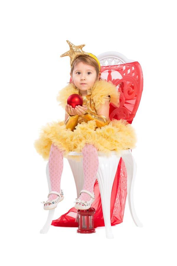 Маленькая девочка нося сочное платье стоковое изображение rf