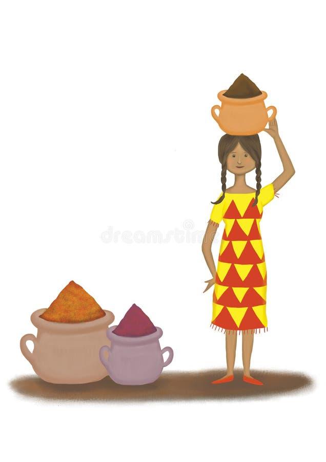Маленькая девочка специй стоковое изображение