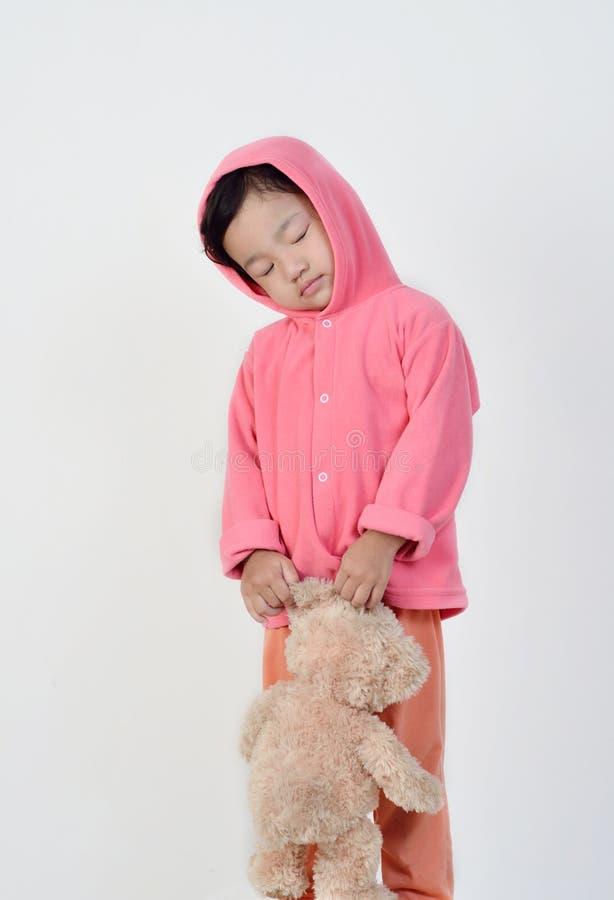 Маленькая девочка спит стоковая фотография rf