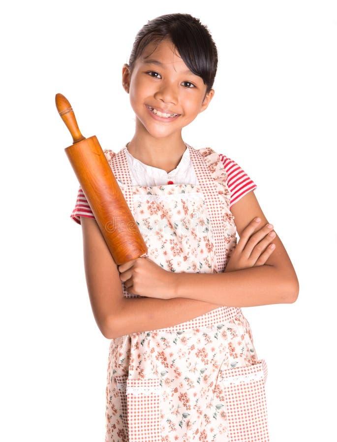 Маленькая девочка с вращающей осью VIII стоковое изображение rf