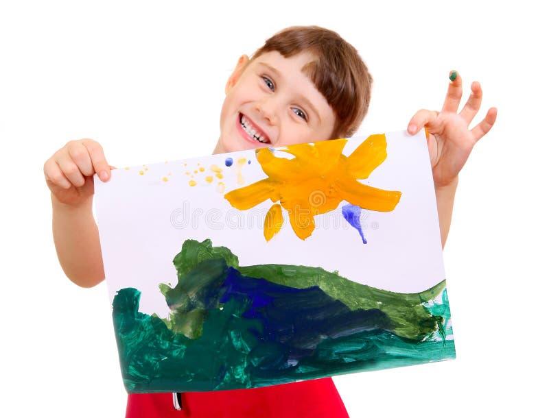 Маленькая девочка с изображением стоковые изображения