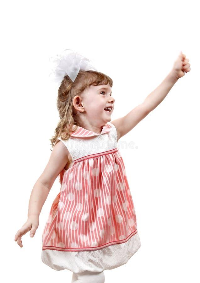 Маленькая девочка с пустой рукой стоковое фото rf