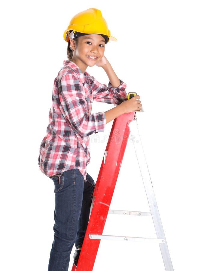 Маленькая девочка с рулеткой IV стоковые изображения rf