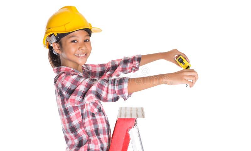 Маленькая девочка с рулеткой VIII стоковое изображение rf