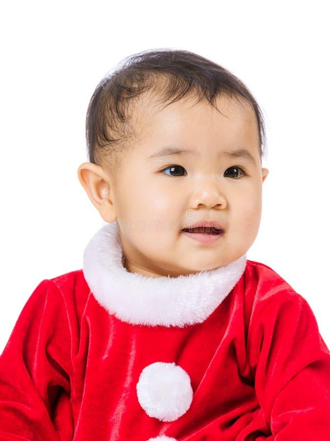 Маленькая девочка с шлихтой рождества стоковое фото