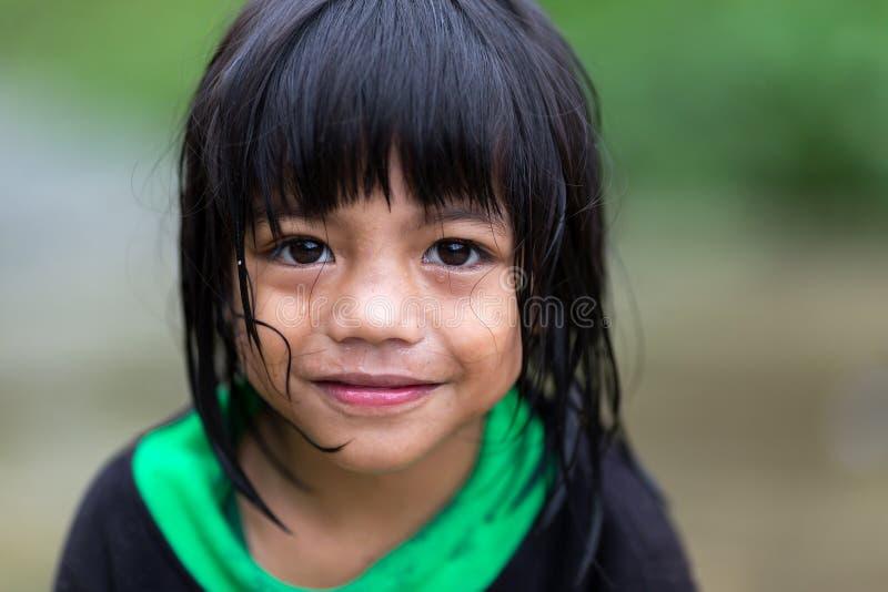 Маленькая девочка филиппинки стоковое изображение