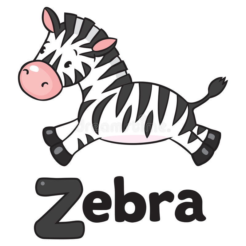 Зебра картинка с надписью для детей