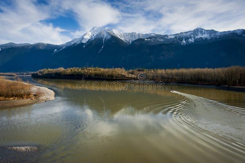 Река Fraser, Британская Колумбия стоковые изображения