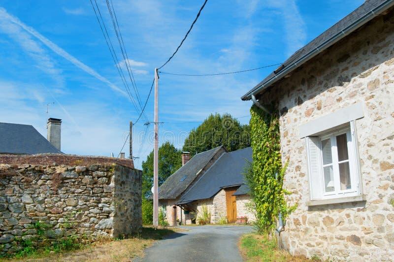 Маленькая французская деревушка стоковая фотография rf