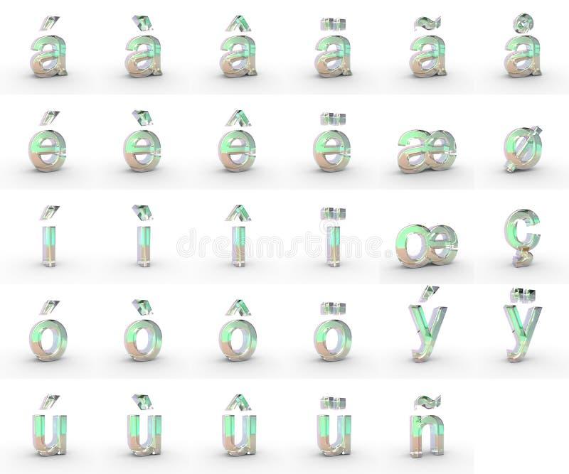 Маленькие буквы мыла с диакритиками стоковое изображение