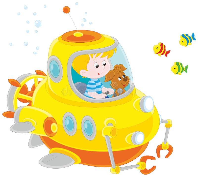 Маленькие моряки подводной лодки бесплатная иллюстрация