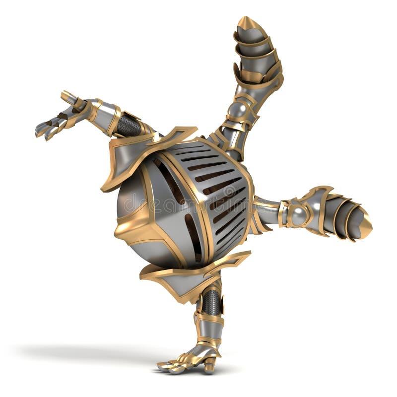 Маленький акробат рыцаря стоковые изображения