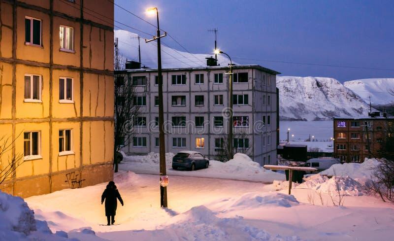 Маленький город на севере стоковое фото