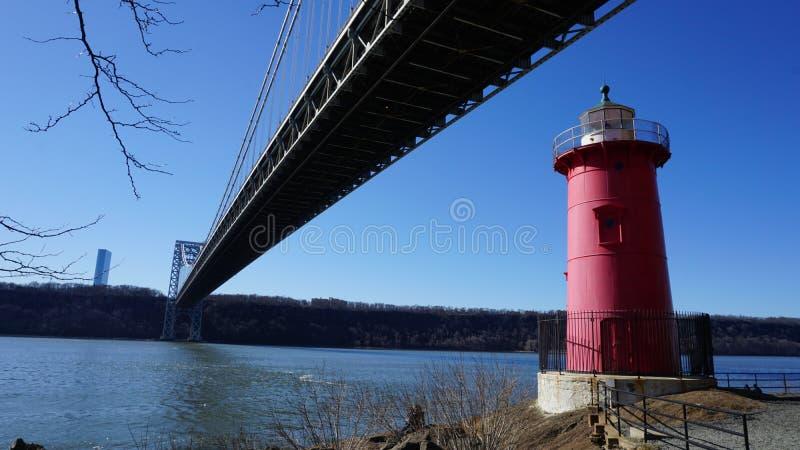 Маленький красный маяк 4 стоковое изображение