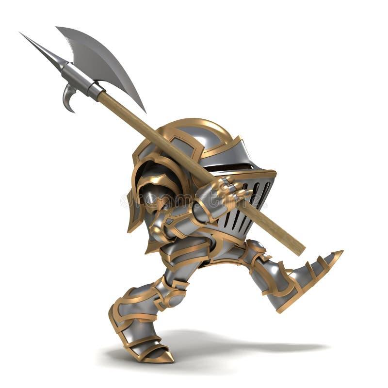 Маленький патруль рыцаря иллюстрация штока
