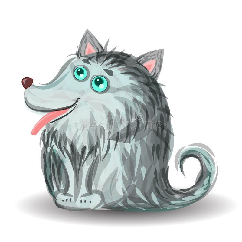 Маленький смешной новичок волка иллюстрация штока