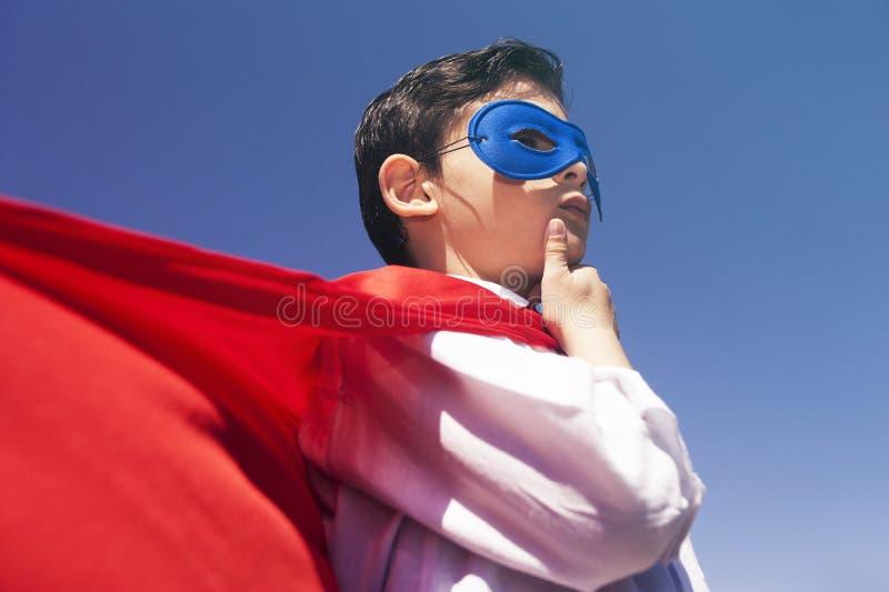 маленький супергерой стоковое фото rf