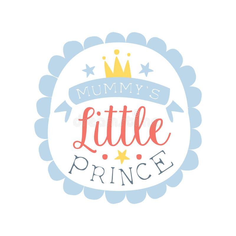 Маленький ярлык принца, красочная рука нарисованная иллюстрация вектора иллюстрация штока