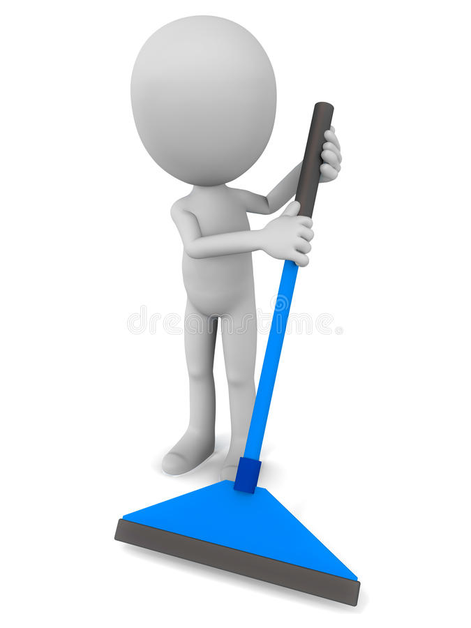 Mopping пол иллюстрация штока