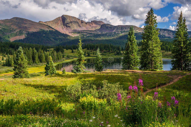 Маленькое озеро Molas стоковое фото rf
