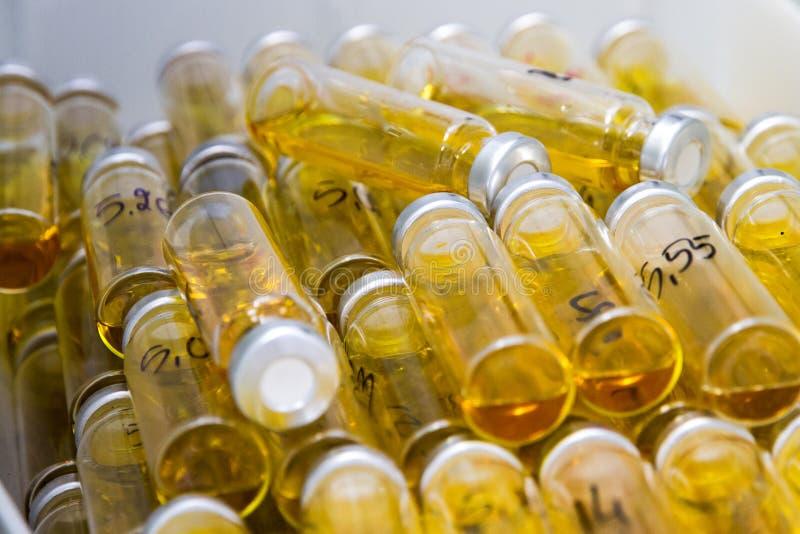 Малые бутылки лаборатории стоковое изображение rf