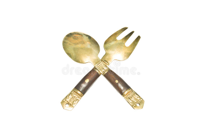 Малые ложка и вилка, keepsake стоковые изображения rf