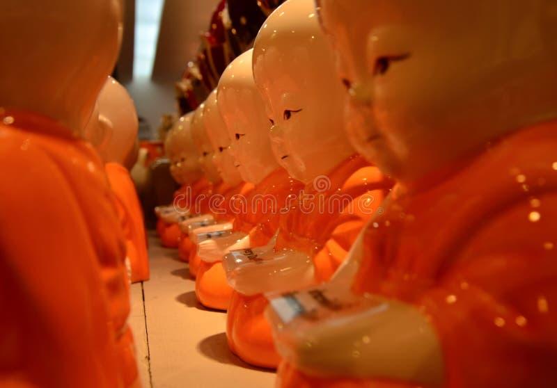 Малые пластичные монахи стоковая фотография