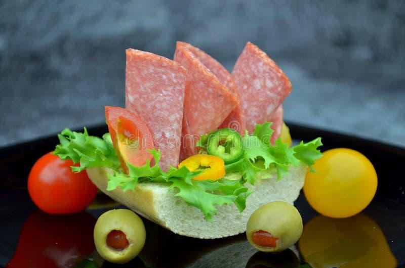 Малые сандвичи партии стоковое изображение
