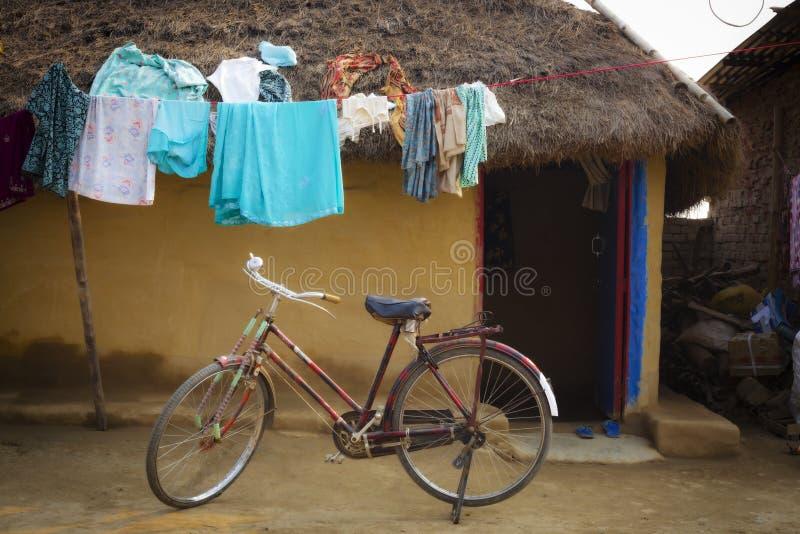 Малые традиционные дома глины Lumbini стоковые изображения rf