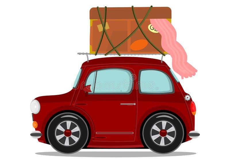 Малый автомобиль шаржа иллюстрация вектора