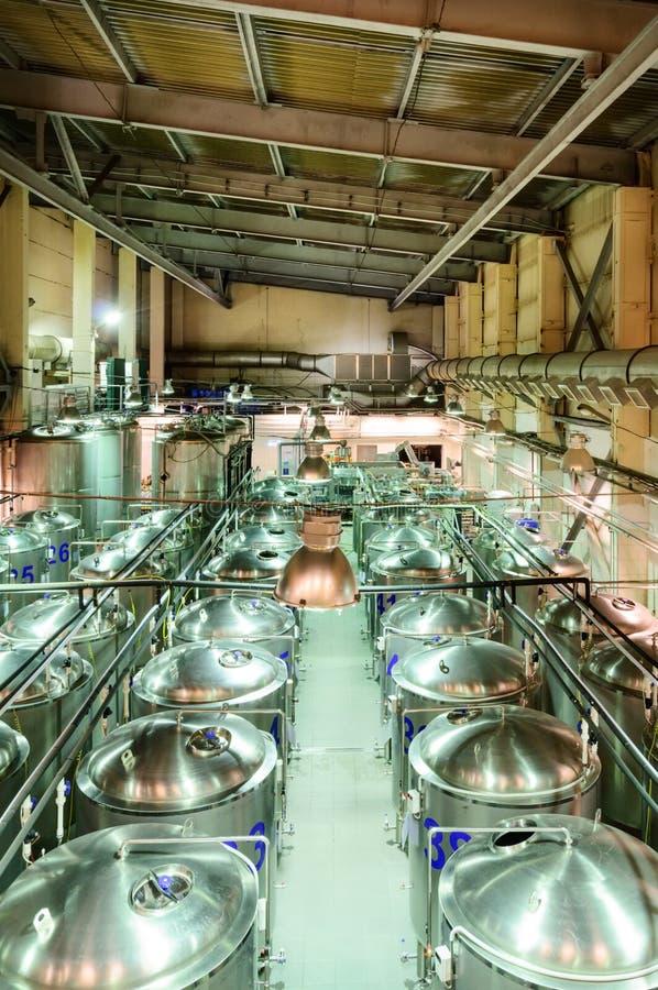 Малый винзавод, отдел пива зрея стоковое фото rf