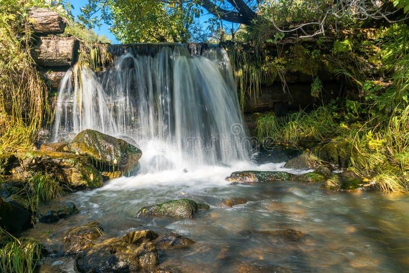 Малый водопад на The Creek стоковые изображения