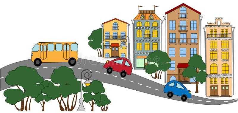 малый городок улицы бесплатная иллюстрация