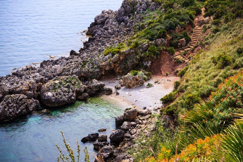 Малый залив в Сицилии стоковая фотография rf
