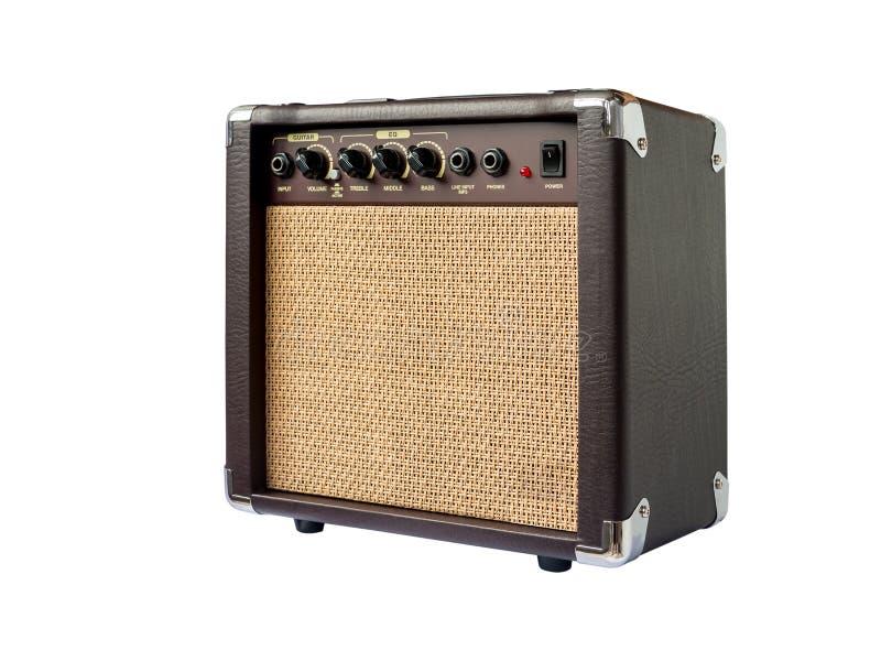 Малый изолированный усилитель акустической гитары стоковое изображение rf