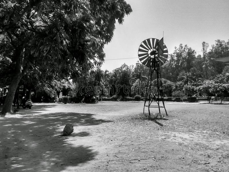 Малый коллеж проекта ветрянки стоковая фотография rf