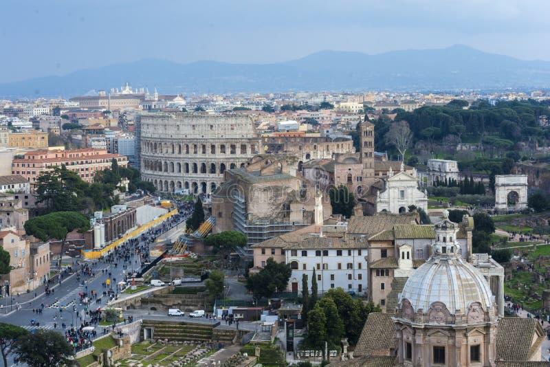 Малый обзор Рима стоковые изображения