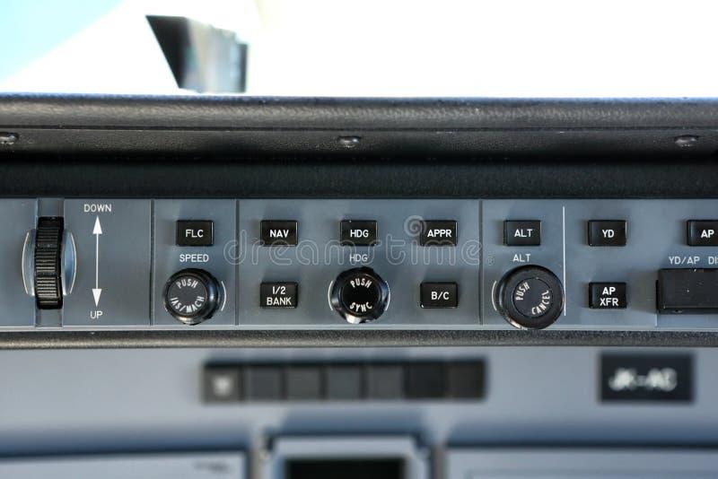 Малый пульт управления автопилота двигателя стоковое фото