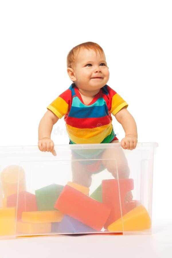 Малыш с блоками стоковая фотография rf