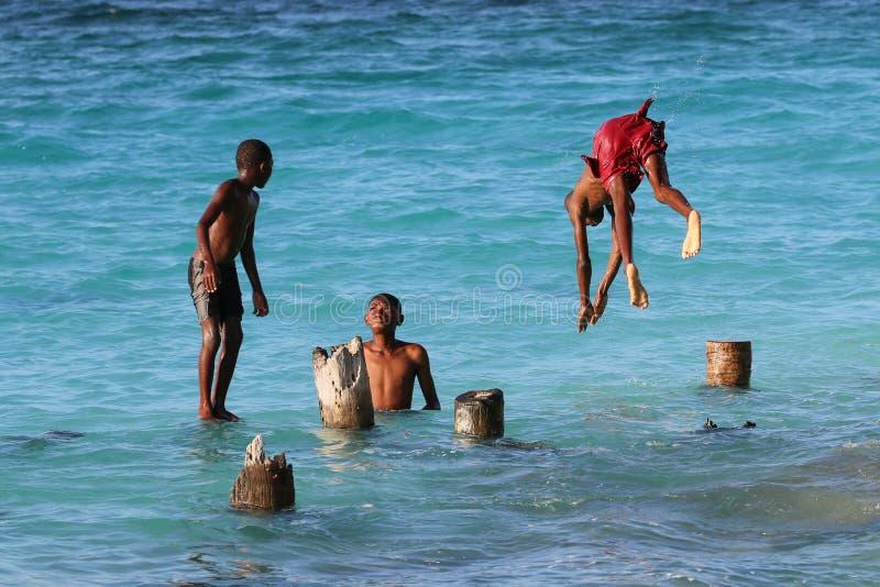 Мальчики Занзибара стоковое фото rf