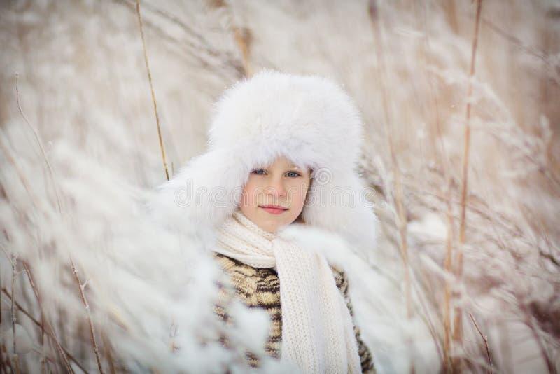 Мальчик в зиме стоковые изображения rf