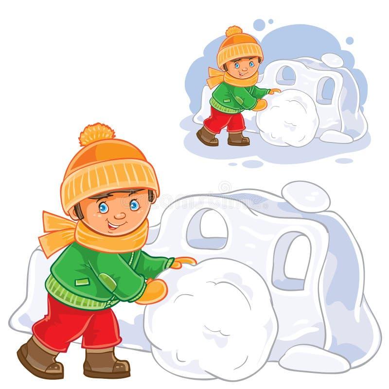 снежная крепость картинки рисунок каждое