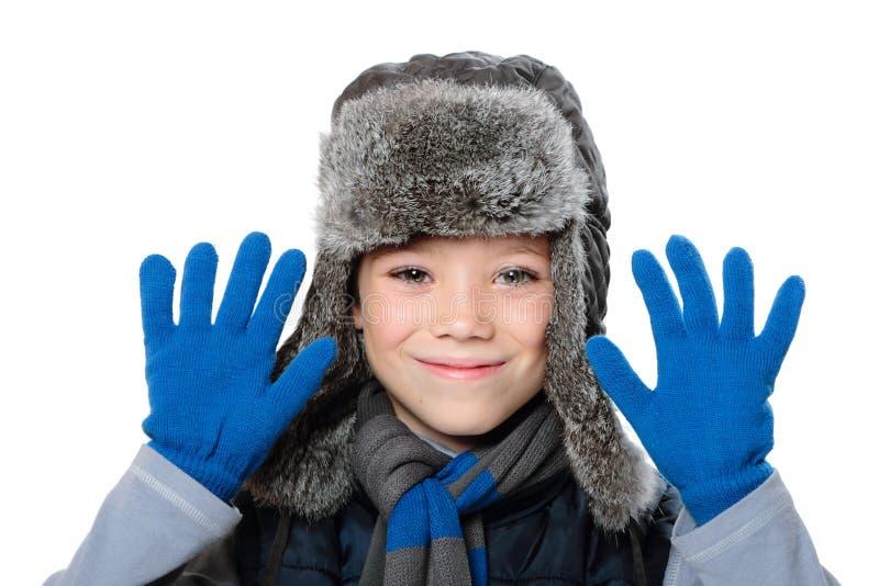 Мальчик зимы стоковые фотографии rf
