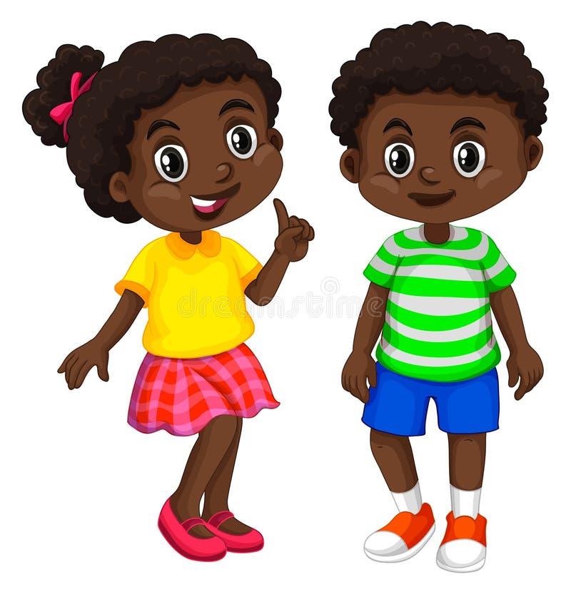 Мальчик и девушка от Гаити иллюстрация штока