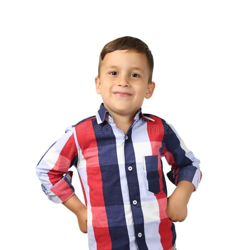 мальчик милый немногая представляя стоковые фото