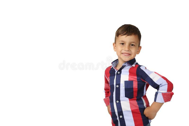 мальчик милый немногая представляя стоковые изображения rf