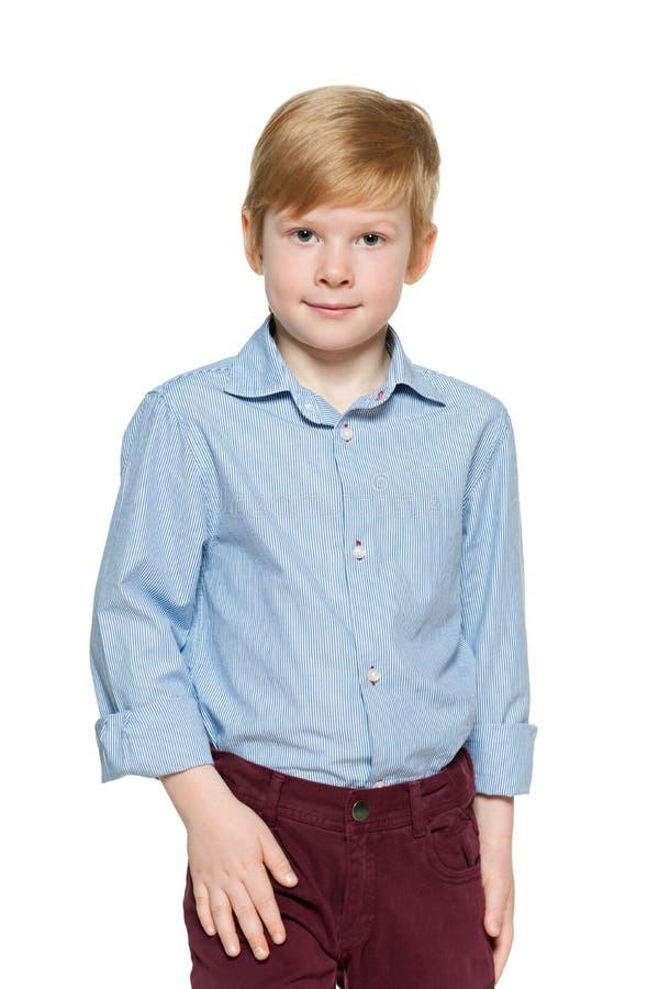 Мальчик моды рыжеволосый стоковая фотография rf