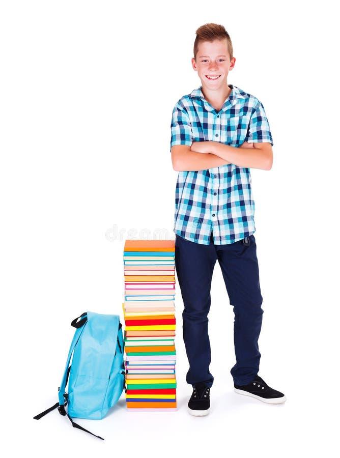 Мальчик назад к школе стоковые изображения rf